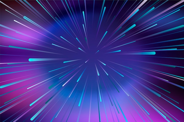 Concepto de fondo de luces de velocidad
