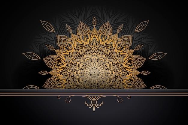 Concepto de fondo de mandala de lujo