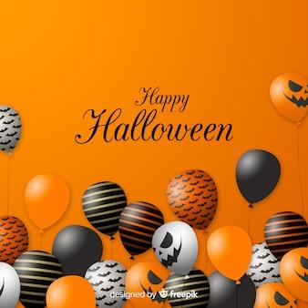 Concepto de fondo moderno de globos de halloween