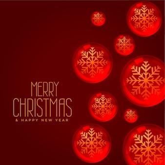 Concepto de fondo de navidad con decoración de bolas