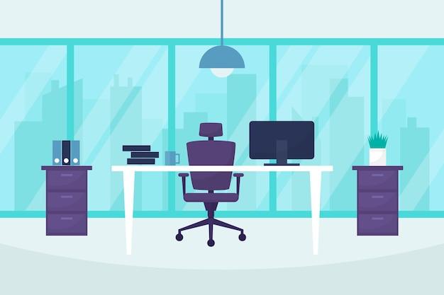 Concepto de fondo de oficina