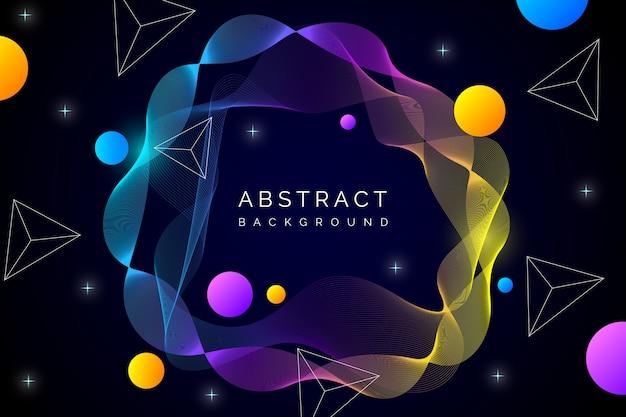 Concepto de fondo de pantalla abstracto