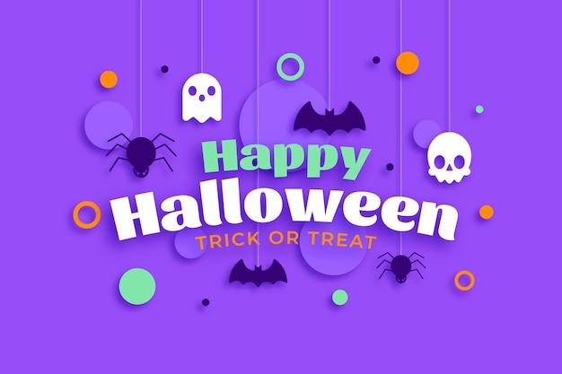 Concepto de fondo de pantalla de feliz halloween