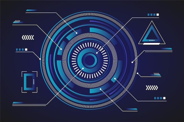 Concepto de fondo de pantalla futurista