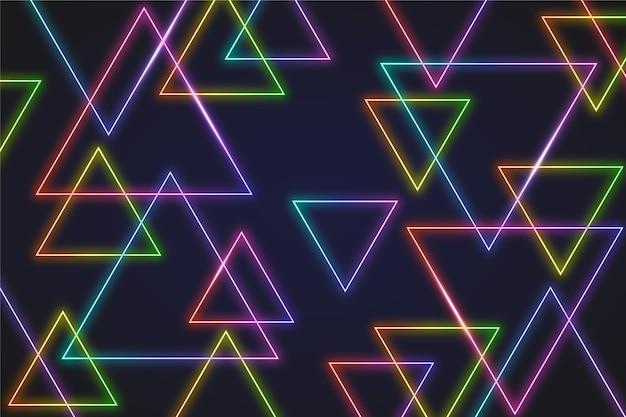 Concepto de fondo de pantalla de luces de neón
