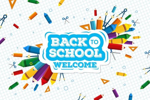 Concepto de fondo de pantalla de regreso a la escuela