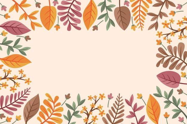 Concepto de fondo plano de otoño