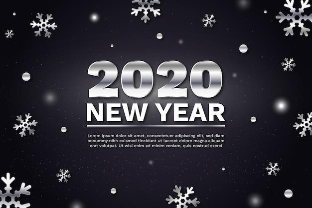 Concepto de fondo de plata año nuevo 2020