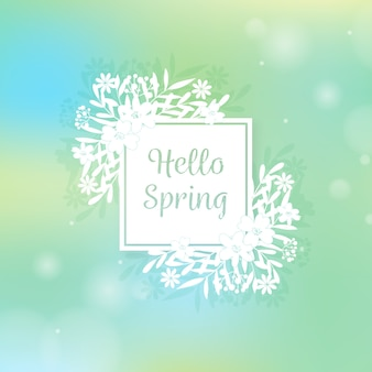 Concepto de fondo de primavera borrosa