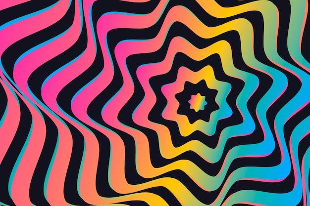 Concepto de fondo psicodélico ilusión óptica