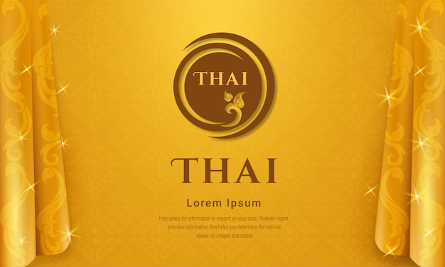 Concepto de fondo tradicional tailandés.