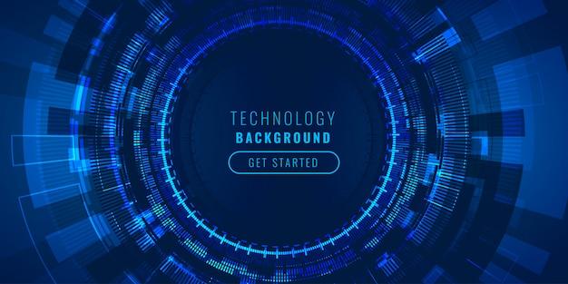 Concepto de fondo de visualización de líneas de alta tecnología futurista