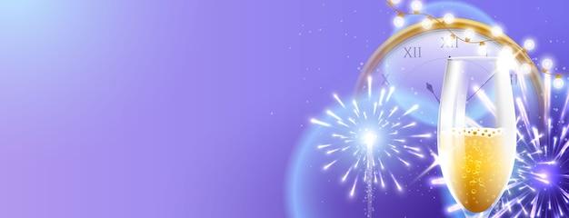 Concepto de fuegos artificiales año nuevo 2021
