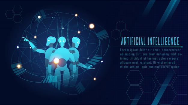 Concepto futurista de la inteligencia artificial