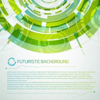 Concepto futurista de interfaz virtual