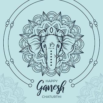 Concepto de ganesh chaturthi plano