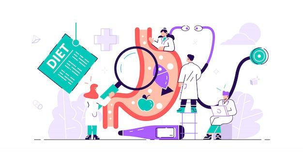 Concepto de gastroenterología. doctor estomacal