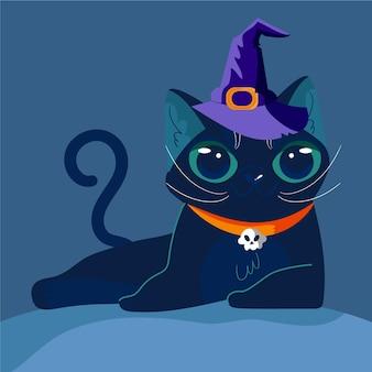 Concepto de gato de halloween