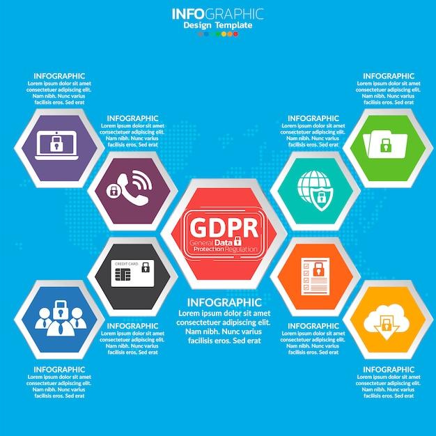 Concepto general de regulación de protección de datos (gdpr).