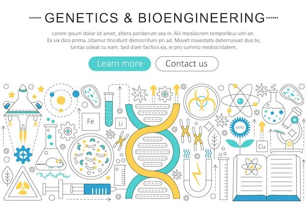 Concepto de genética y bioingeniería.