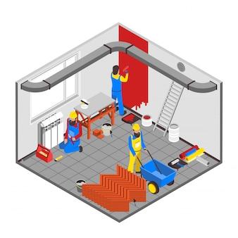 Concepto de la gente del constructor