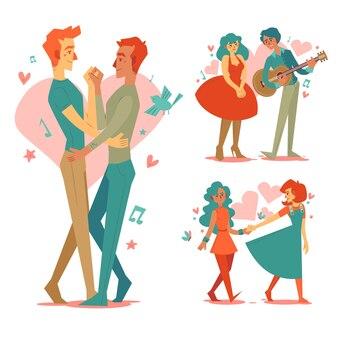 Concepto de gente encantadora hermosa