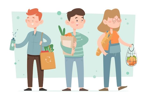 Concepto de gente de estilo de vida verde