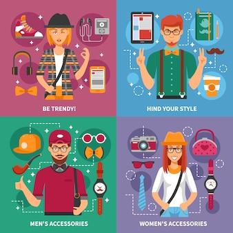 Concepto de gente con estilo