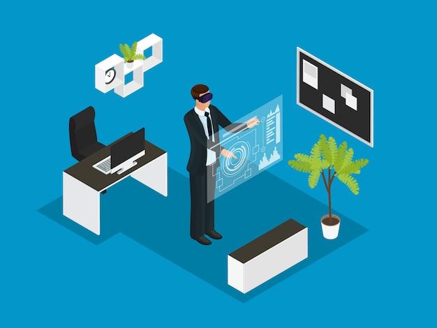 Concepto de gente de negocios isométrica