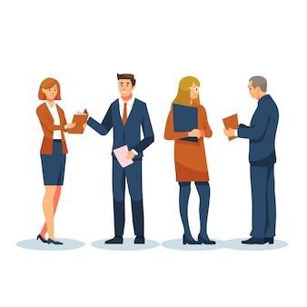 Concepto de gente de negocios