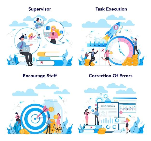 Concepto de gerente supervisor