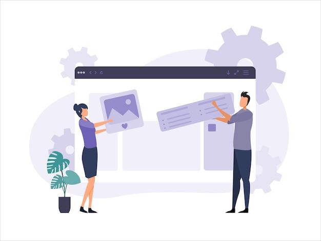 Concepto de gestión de contenido vector premium