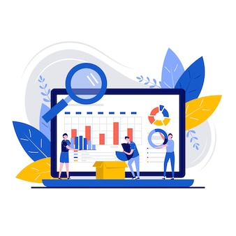 Concepto de gestión de datos con carácter. organización y optimización del flujo de trabajo.