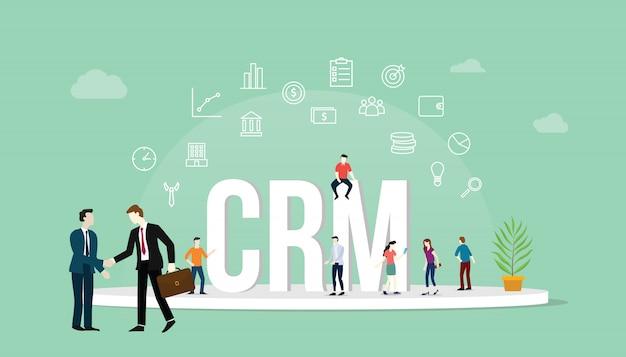 Concepto de gestión de relaciones con clientes de crm