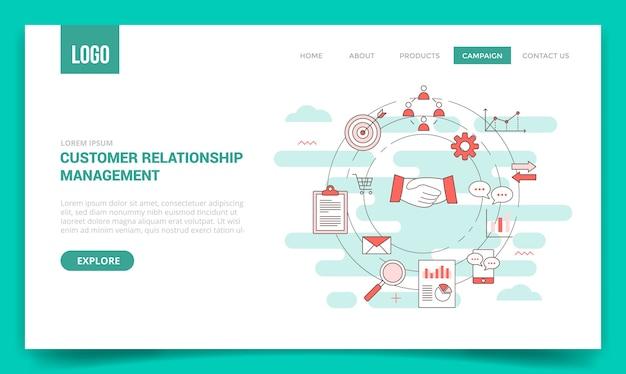 Concepto de gestión de relaciones con los clientes de crm
