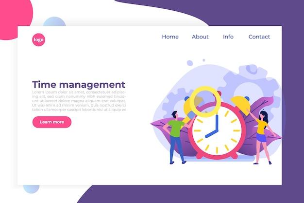 Concepto de gestión del tiempo, aplicación de programación empresarial.