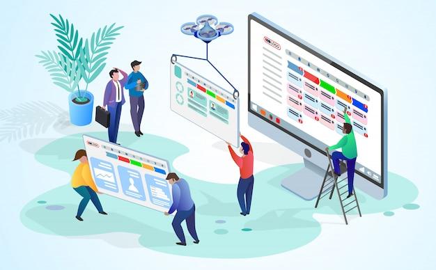 El concepto de gestión del tiempo de la empresa.