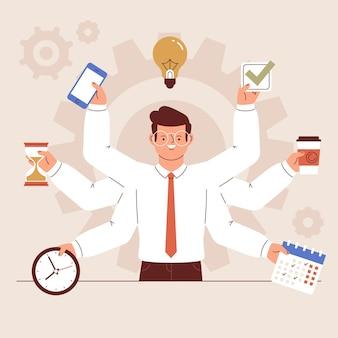 Concepto de gestión del tiempo ilustrado