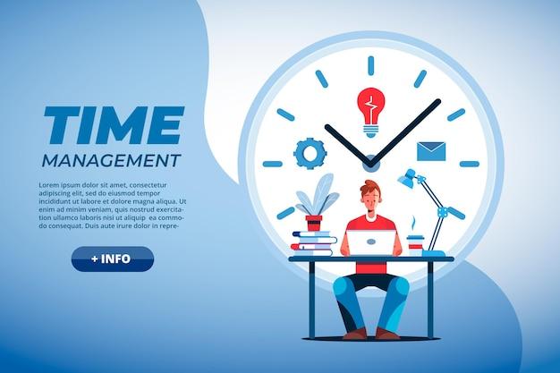 Concepto de gestión de tiempo plano