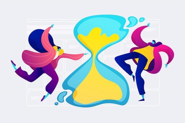 Concepto de gestión del tiempo.