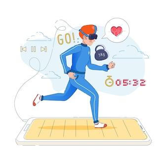 Concepto de gimnasio virtual