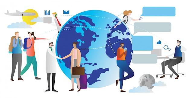 Concepto de globalización vector illustraton