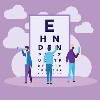 Concepto de gráfico de prueba de ojo