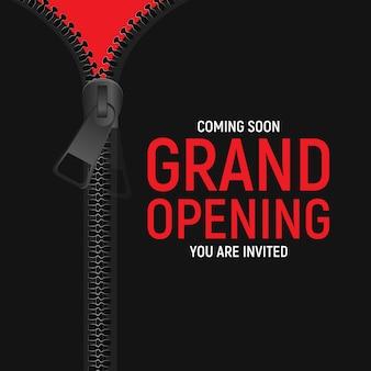 Concepto de gran apertura