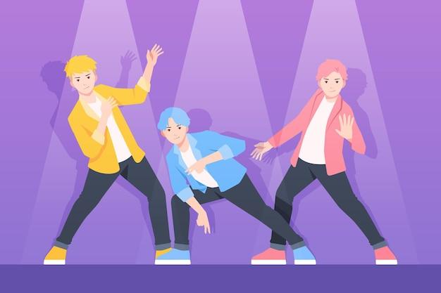 Concepto de grupo de chicos k-pop