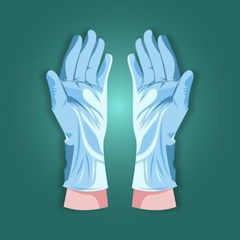 Concepto de guantes de protección