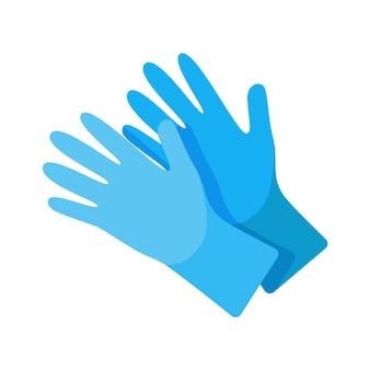 Concepto de guantes quirúrgicos protectores