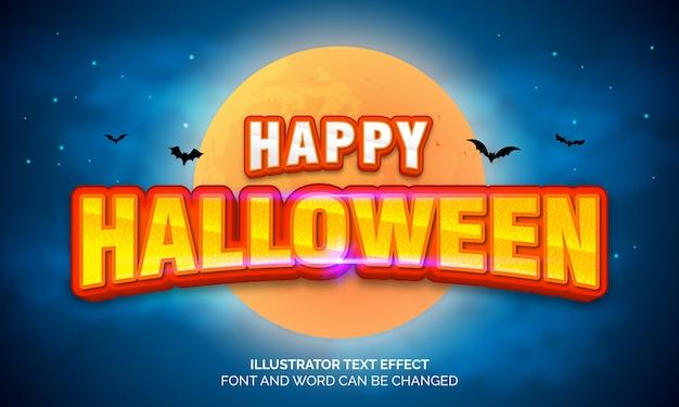 Concepto de halloween, efecto de texto editable