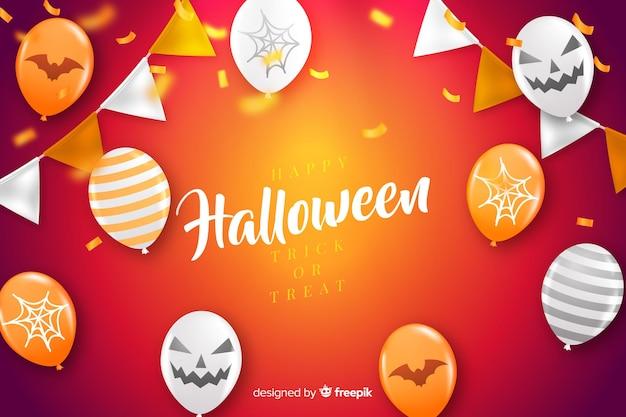 Concepto de halloween con fondo realista