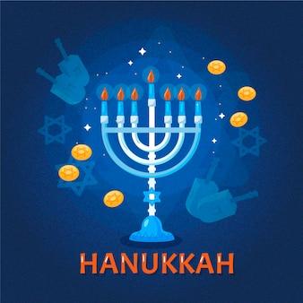 Concepto de hanukkah dibujado a mano